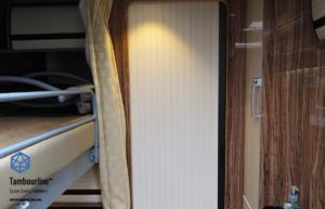 Cream Bathroom Tambour Door