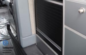 Black Vertical Opening Tambour Door
