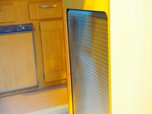 Silver Vertical Opening Tambour Door