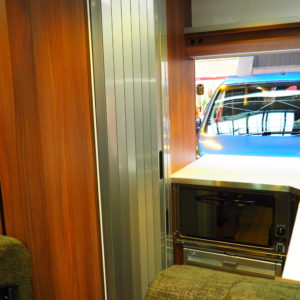Silver Bathroom Tambour Door