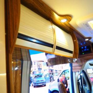 Light Cream PVC Vertical Tambour Door